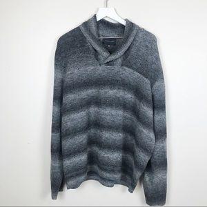 Geoffrey Beene   Shawl Neck Wool Sweater